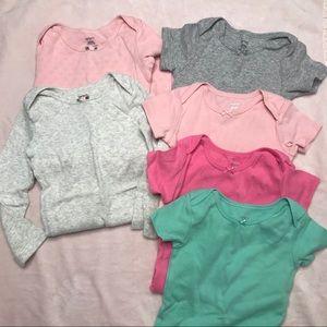Baby Girl 6 piece Bundle one piece bodysuits 24 mo